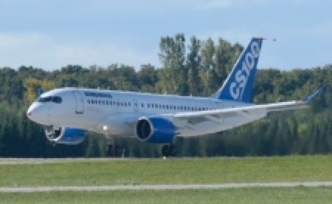 Bombardier S Cseries Jet Takes First Test Flight North Of