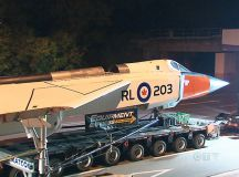 Avro Arrow on the move: Replica transported to Mississauga ...