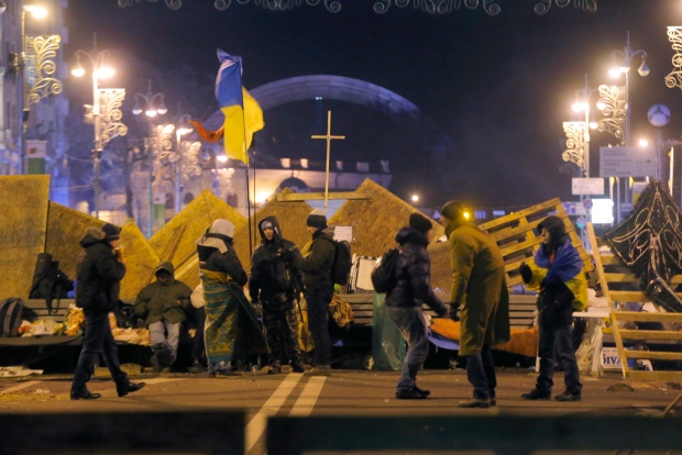 Protestors in Ukraine