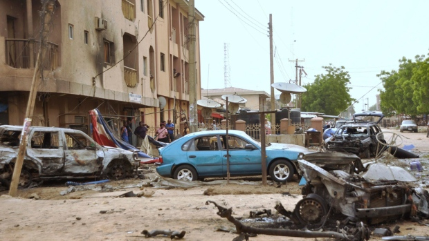 After an explosion in Kano, Nigeria