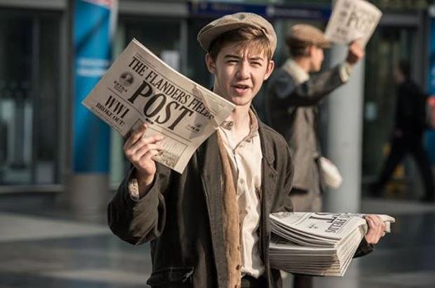Old Fashioned Newspaper Boy