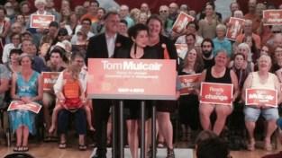 Deb Mulcair at NDP rally