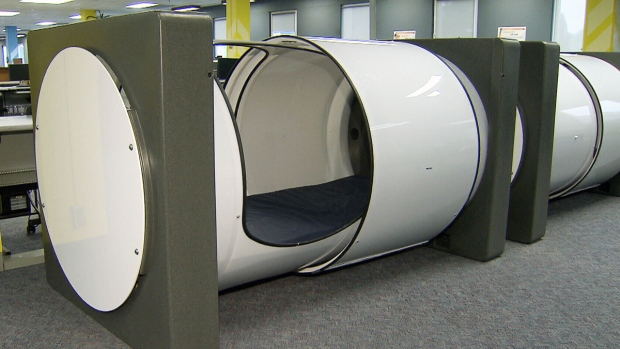 Student nap pods arrive at the British Columbia