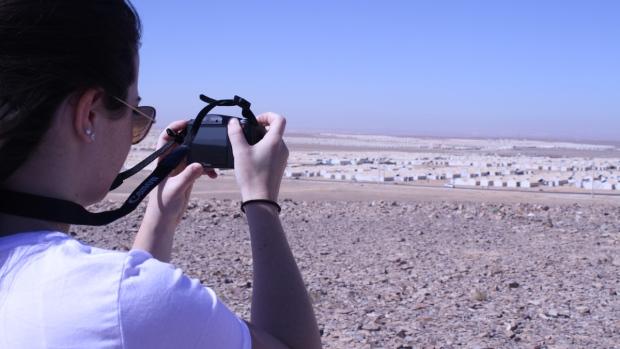 Kaleigh Ambrose overlooking Azraq
