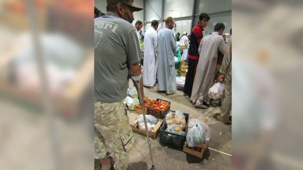 Abdullah shopping