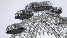 People remain in pods on the London Eye