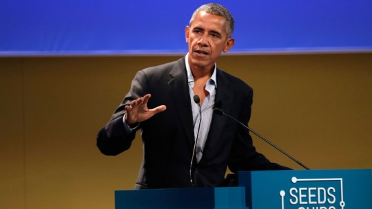 Image result for obama speech private event