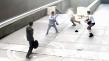 Aquitaine Tower courtyard - violent robbery