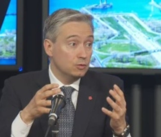 Federal Infrastructure Minister Francois Philippe Champagne