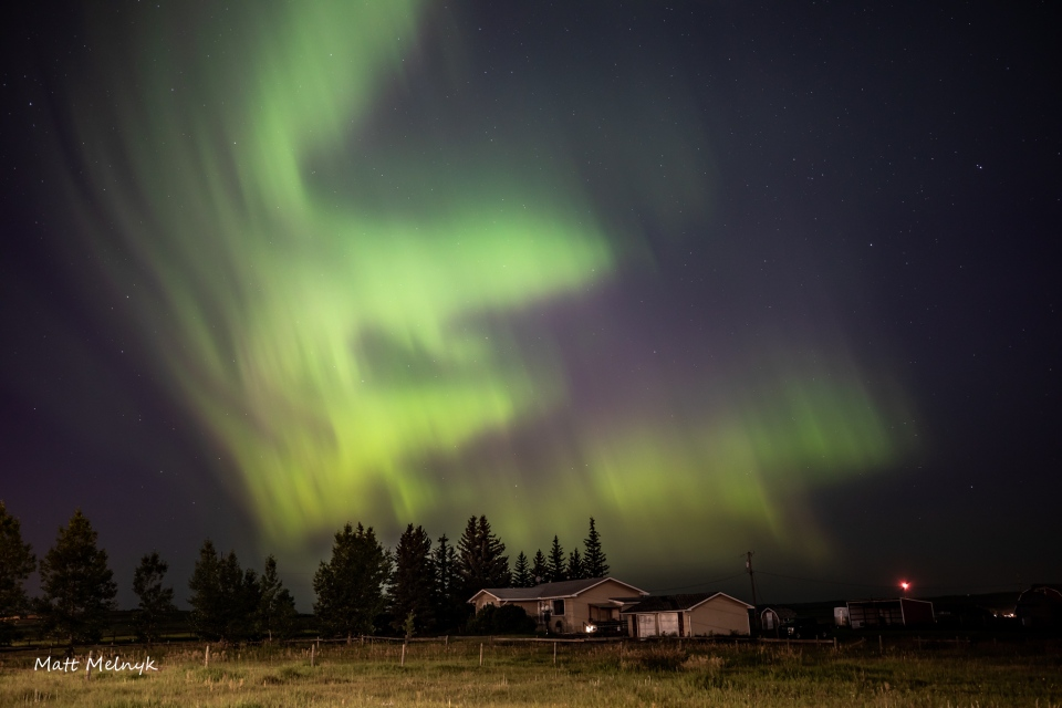 northern lights dazzle above