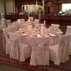 Wedding Chair Covers Doncaster Office White Leather Decor Favours And Co Champagne Sashes