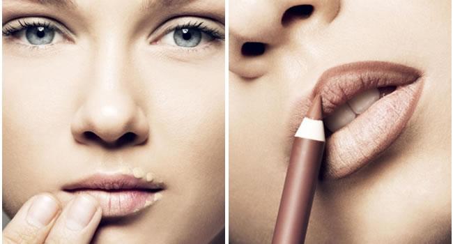 labios borrados