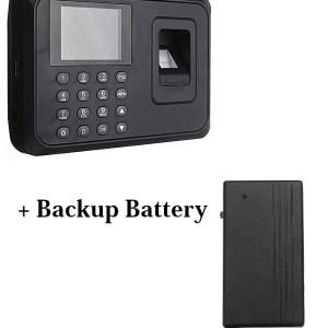 Biometric Fingerprint Time Attendance Machine+Backup Battery