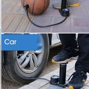 Car Motorcycle Bicycle Bike Tire Foot mini Air Pump compressor inflator