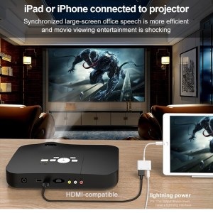 Lightning To HDMI for iPhone iPad ios To TV Projection hdmi Adapter