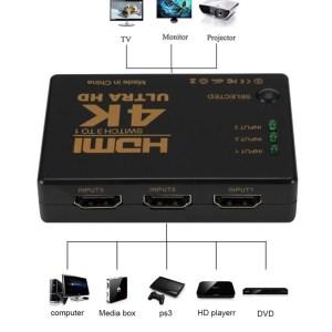 HDMI Cable Splitter 4K 2K 3×1 HD 1080P Video Switcher hdmi mini Adapter