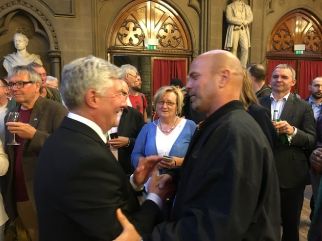 Gerardo with acting Mayor of Manchester, Tony Lloyd