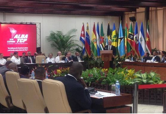 El Presidente de los Consejos de Estado y de Ministros, Miguel Díaz-Canel Bermúdez en la XVI Cumbre ALBA-TCP