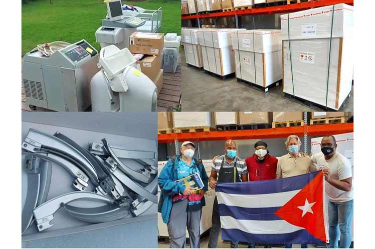 Preparan en Bélgica contenedor con insumos médicos para Cuba
