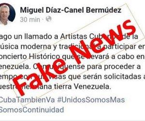 Cuenta falsa de Díaz-Canel en twitter