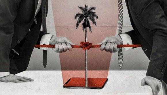Imagen alegórica a la política subversiva contra Cuba