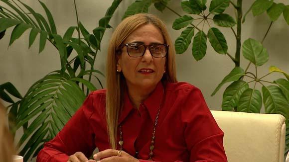 Ministra de Finanzas y Precios, Meisi Bolaños Weiss.
