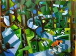 """Picnic Loop Memorial Park Houston"" 18"" x 24"" x 1.6"" oil on gallery canvas"
