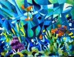 """Snorkeling In Okinawa"" 18"" x 24"" oil on canvas"