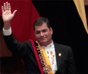 Presidente de Ecuador Rafael Correa, Toma de posesión 2009