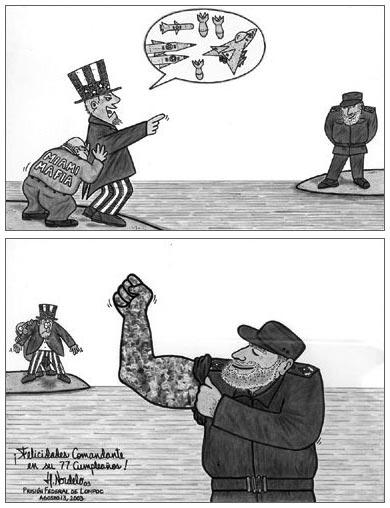 Fidel. Caricatura de Gerardo Hernández