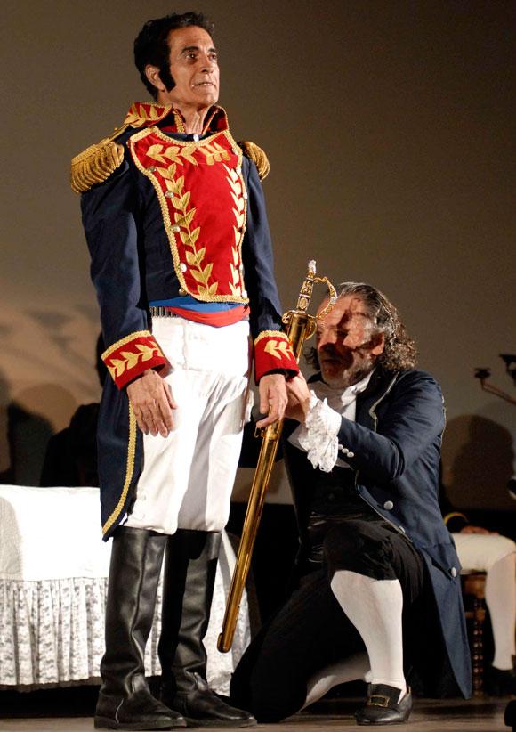 En la Habana obra teatral dedicada al Libertador Simn