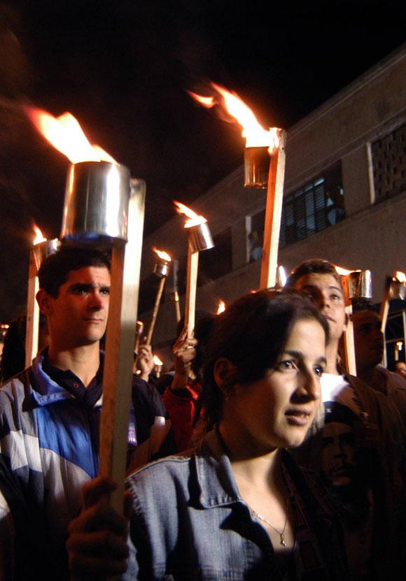 Marcha de las Antorchas. Aniversario del Natalicio de José Martí
