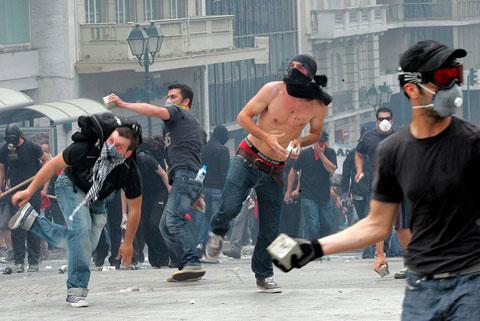 Manifestaciones en Grecia