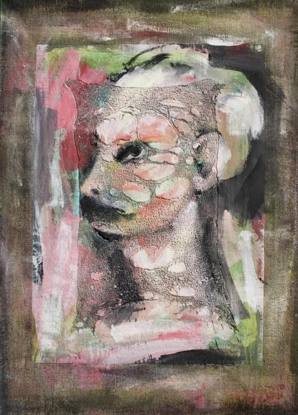 """Kamyl: """"Perfil martiano"""" (Técnica mixta sobre tela, 130x90 cm) 2008"""