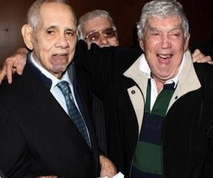 """Orlando Bosch y Luis Posada Carriles celebran en Miami la publicación del libro de """"memorias"""" de Bosch. Ambos son los autores intelectuales de la voladora de una avión civil cubano que cost"""