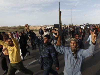 Combates en Libia. Foto: AFP