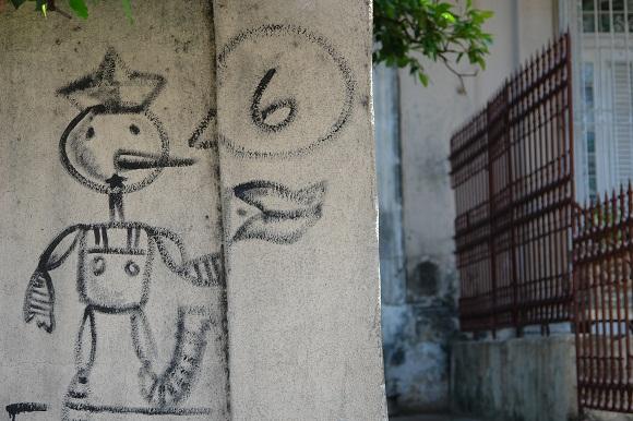 Pinocho identifica una casa de La Habana