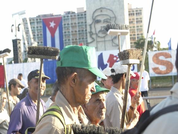 Rostros duros y enérgicos los de estos hombres. Foto: Rafael González/Cubadebate.