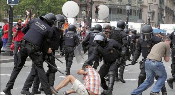 Brutalidad policial en Barcelona