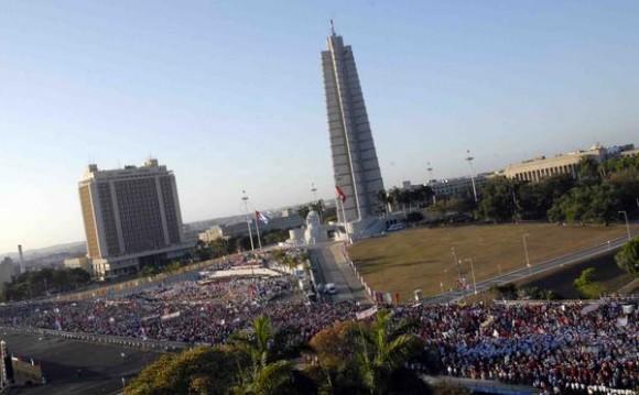 Marchas en el malecón de la Habana