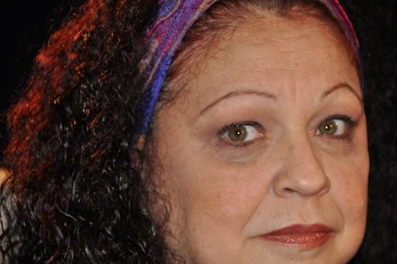 """Sonia Silvestre en """"Con 2 que se quieran"""" que conduce Amaury Pérez. Foto: Petí"""