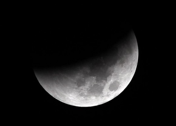 Eclipse Lunar visto desde Indonesia