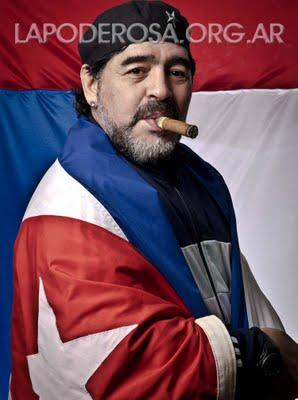 Maradona reitera su cario por Fidel y pide vida