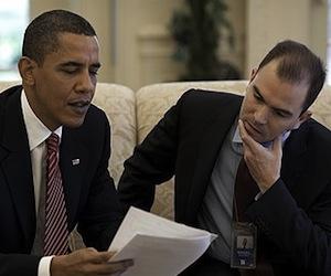Obama y Ben Rhodes en la Casa Blanca. Foto: Archivo