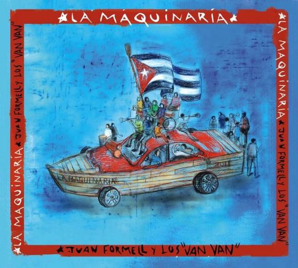 Carátula del CD La Maquinaria de la Orquesta Los Van Van, Cuba