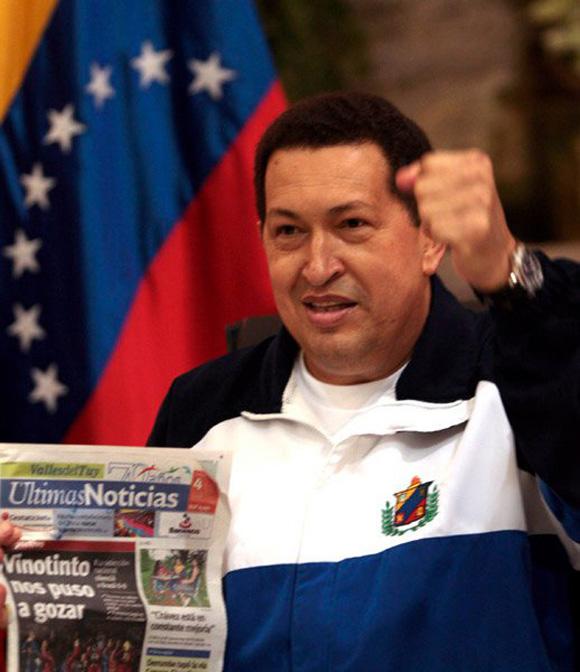 Chavez llega a Caracas despues de ser operado en Cuba. Foto: Ismael Francisco