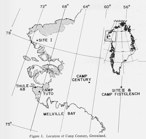 La localización de Camp Century