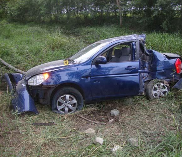 Carro involucrado en el accidente