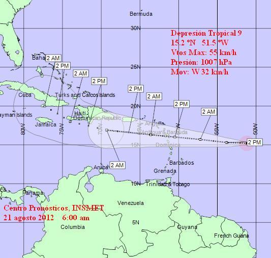 Nueva depresión tropical