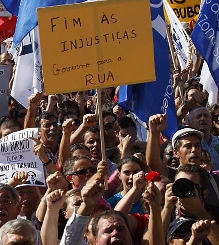 Manifestación en Lisboa. 29 de septiembre de 2012